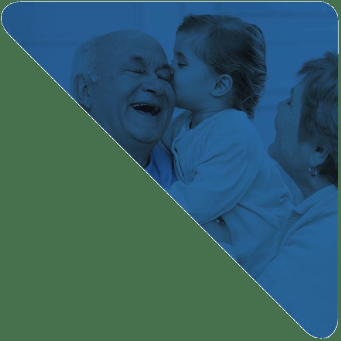 Pulsador Ascensores Domingo con imagen de Abuelos y Niña