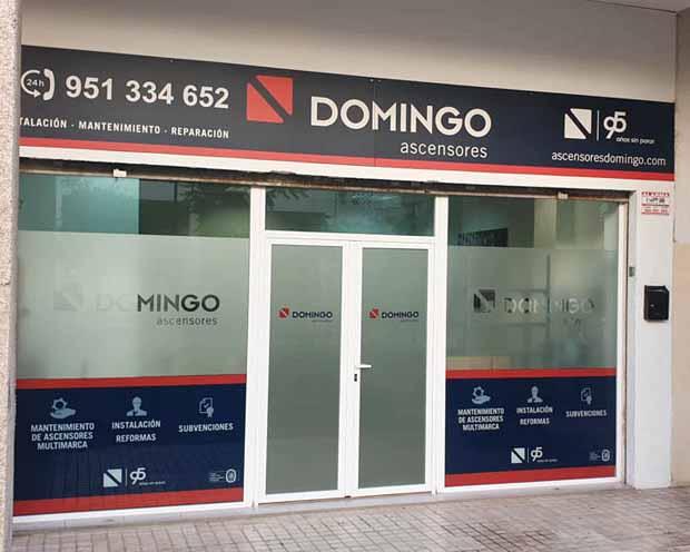 Fotografía exterior de la Delegación en Málaga de Ascensores Domingo.